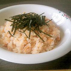 バターライスと焼鮭ほぐしのチャーハン