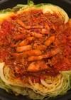 巻かないロールキャベツの、トマト煮込み!