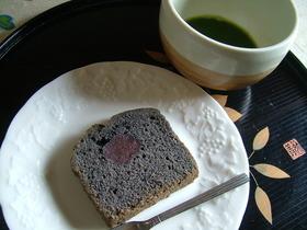 胡麻のブラックパウンドケーキ