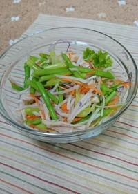 アスパラの野菜サラダ!混ぜるだけ。