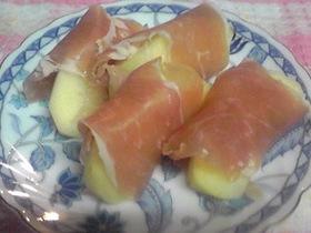 りんごの生ハム巻き