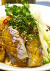 ◆揚げ茄子と新生姜のさっぱり冷やしうどん