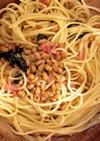 あっさり!納豆と梅の和風パスタ