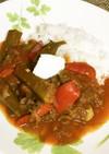 ピリッと辛い牛肉とオクラのトマト煮込み