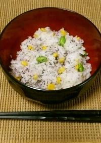【簡単】枝豆コーンゆかりで夏ごはん!