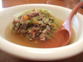 本日もスープ~和風キャベツver.