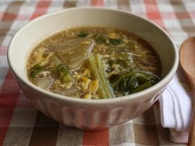 とろり~♪かぶの玉子中華スープ