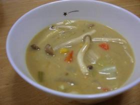 野菜たっぷりキャンベルカレーチーズスープ