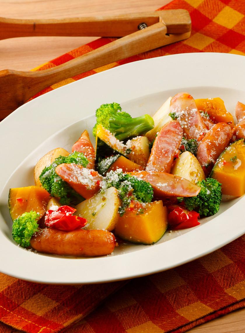 レンジで!ウインナーと野菜のホットサラダ