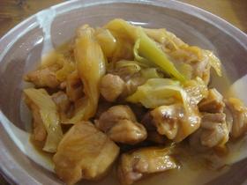 トロトロねぎと鶏肉の炒め煮