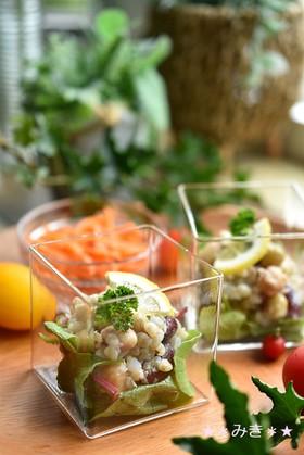 蕎麦の実とMIXビーンズのマクロビサラダ