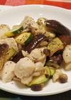 鶏むね肉と夏野菜の味ぽん炒め
