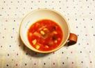 お豆タップリ♪トマトスープ~☆