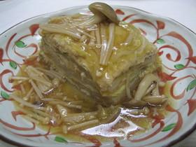 白菜と鶏ひき肉の重ね煮*きのこあんかけ