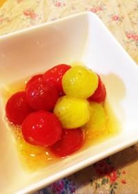 デザートとしても♡ミニトマトのレモン漬け