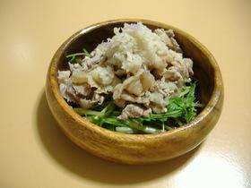 ゆで豚とみず菜のおろしサラダ