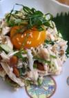 鶏ささみと納豆のサッパリ和風ユッケ