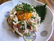 鶏ささみと納豆のサッパリ和風ユッケの写真