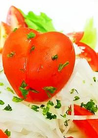♪簡単 ミニトマトで可愛いハートのサラダ