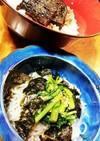 しらたきの小鉢と茄子の蒲焼き丼❣