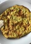 ゴーヤの種の卵焼き