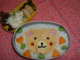 クマさんのレトルトカレー弁当♪キャラ弁