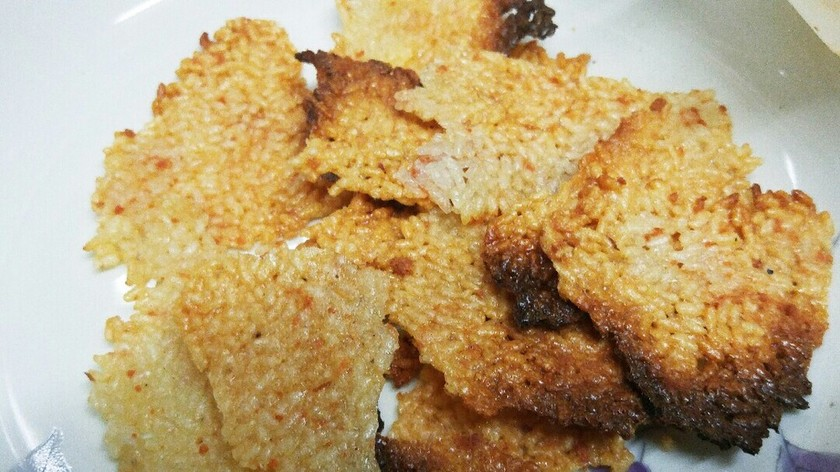 シャケフレーク煎餅
