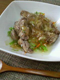 ぱぱっと昼ご飯☆鶏もも肉のねぎ塩だれ丼