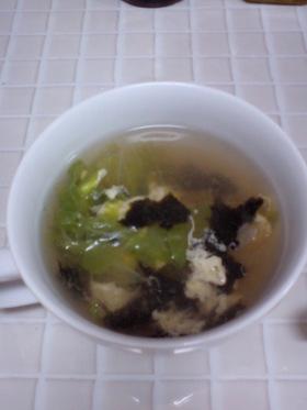 朝はスピード勝負!レタスのスープ