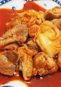 簡単☆鶏肉のトマト煮込み