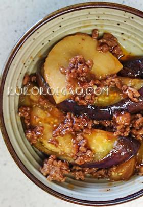 茄子と筍のピリ辛炒め