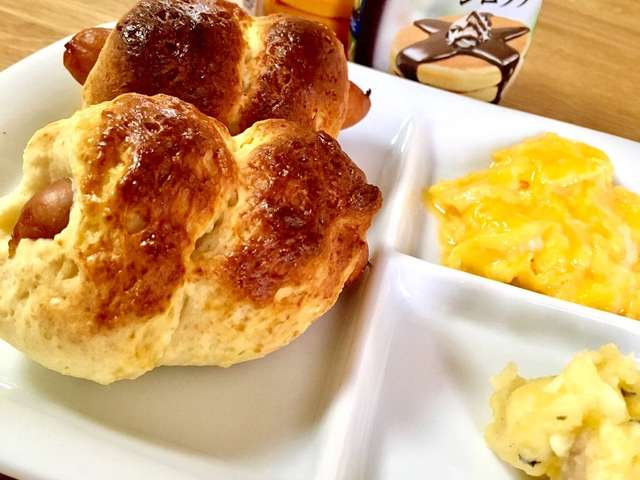 ホット ケーキ ミックス ソーセージ パン