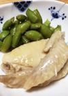 枝豆と手羽先の冷菜【上海】糟卤凉菜