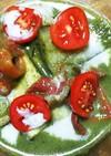 ナスとトマトの重ね煮グリーンカレー