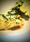 コンビーフとほうれん草のチーズオムレツ