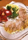 白身魚の炙りカルパッチョ&魚の捌き方