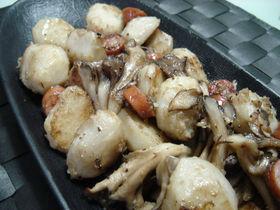 里芋と舞茸のマヨネーズ炒め