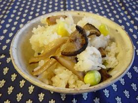 焼き☆キノコ飯