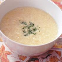 卵とチーズのふわふわスープ