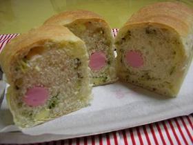 基本の生地でソーセージチーズ食パン