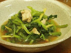 小松菜と鶏のあっさり煮