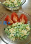 簡単☆豆苗と卵のサラダ