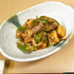 レンジで簡単♪サバ缶と高野豆腐のチリ風
