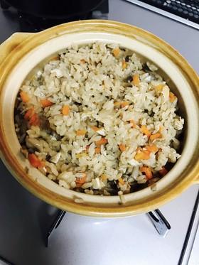 土鍋で一合炊き込みごはん覚書