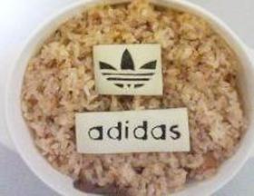 キャラ弁 adidasアディダスロゴ