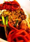 キムチ納豆ピビン麺風