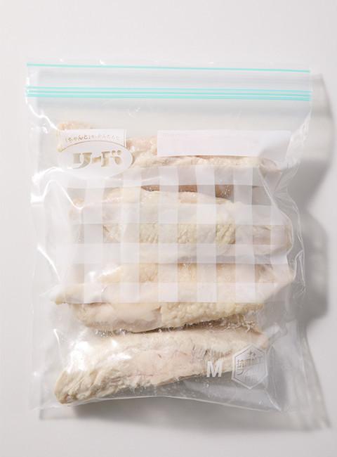保存バッグ作り置き 鶏胸肉のレンチン蒸し