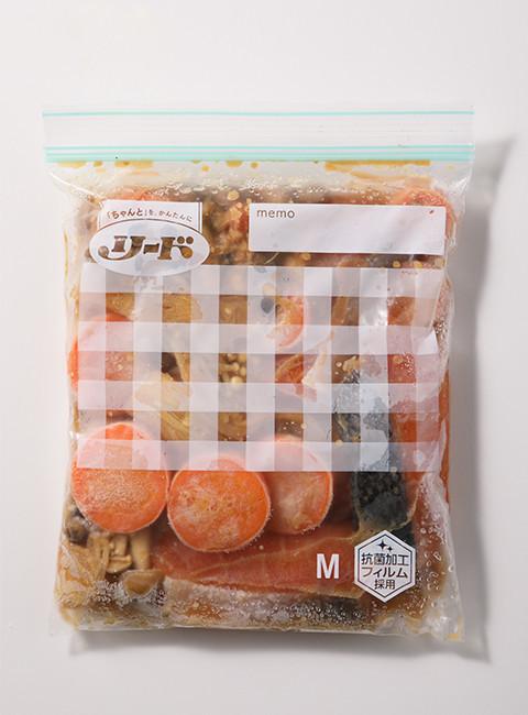 保存バッグ作り置き 鮭のちゃんちゃん焼き