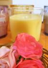 桃缶でフルーツ牛乳、おいしぃ~♪簡単