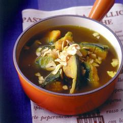 かぼちゃのガーリックカレースープ